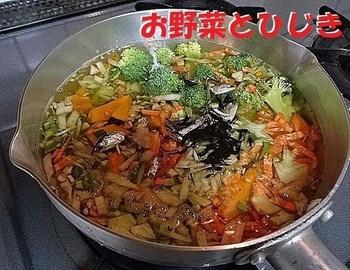 野菜とひじき